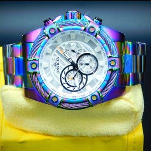 FIRM PRICE-New Invicta Bolt cable iridescent Watch